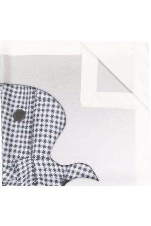 Nina Ricci Bird-print logo silk scarf - Neutrals