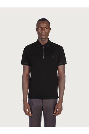 Salvatore Ferragamo Men Polo Shirts - Men Cotton piquet Polo