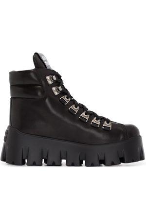 Miu Miu Women Ankle Boots - 70mm platform ankle hiking boots