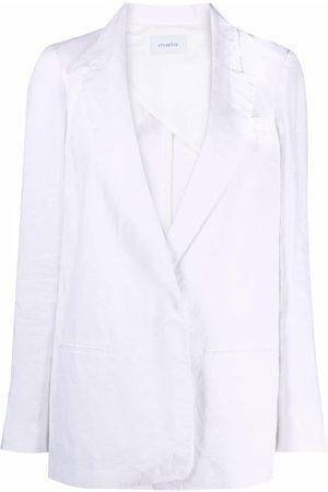 Malo Single-breasted linen blazer