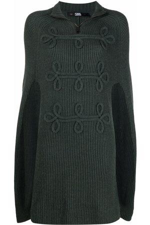 Karl Lagerfeld Wool soutache-detail cape
