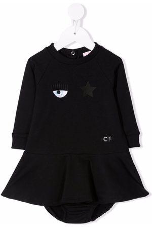 Chiara Ferragni Kids Baby Casual Dresses - Eye Star embroidered jumper dress
