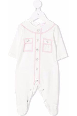 Chiara Ferragni Pajamas - Two-tone rhinestone-embellished pajamas