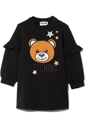 Moschino Kids Baby Casual Dresses - Logo front frill sleeve dress