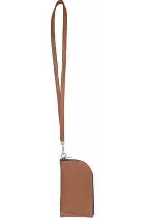 Rick Owens Men Wallets - Neck-strap leather wallet
