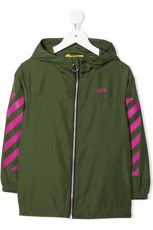 OFF-WHITE Chest logo-print jacket