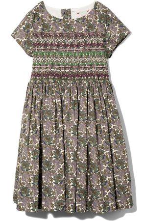 BONPOINT Girls Printed Dresses - Duchess smock printed dress - Neutrals