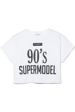 Dolce & Gabbana Girls T-shirts - Slogan-print cotton T-shirt