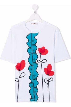 Marni TEEN floral-print short-sleeved T-shirt