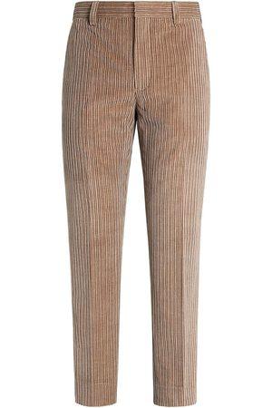 Ermenegildo Zegna Men Formal Pants - Tailored corduroy trousers - Neutrals
