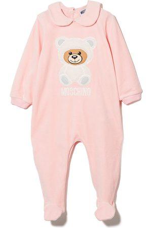 Moschino Kids Bodysuits & All-In-Ones - Teddy Bear cotton babygrow