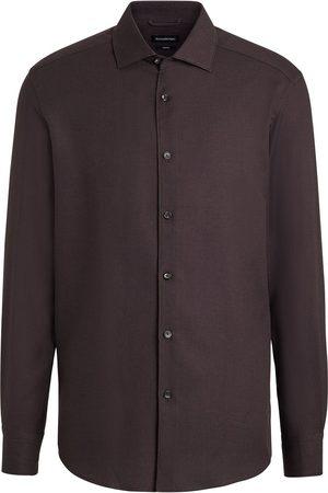 Ermenegildo Zegna Long-sleeve cotton-blend shirt
