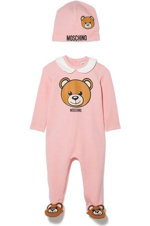 Moschino Kids Loungewear - Teddy Bear logo-print two-piece set