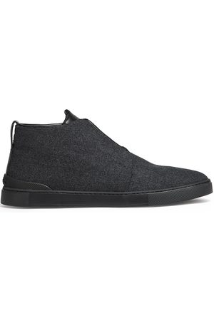 Ermenegildo Zegna Men Ankle Boots - Wool ankle boots - Grey