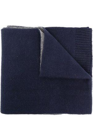 BOSS Kidswear Intarsia-knit logo knitted scarf