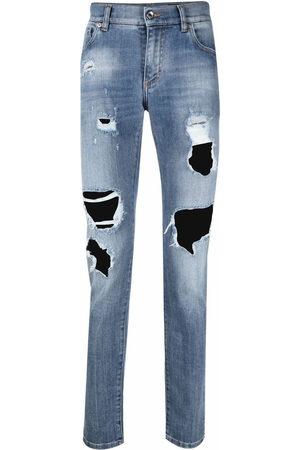 Dolce & Gabbana Logo-plaque skinny-fit jeans