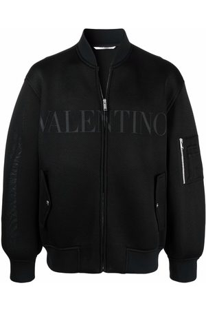 VALENTINO Men Bomber Jackets - Logo-print bomber jacket