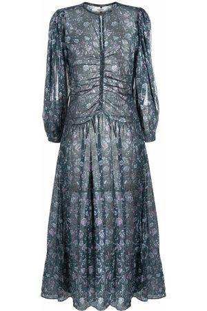 Isabel Marant Ruched floral-print dress