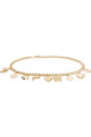 Moschino Women Belts - Charm-detail chain-link belt