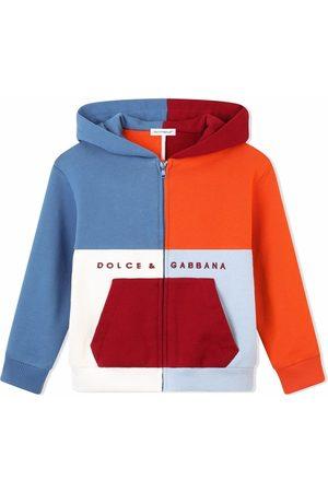 Dolce & Gabbana Boys Hoodies - Colour-block zip-front hoodie