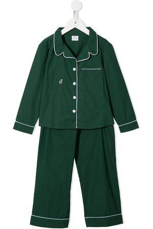 Morgan Lane Mini Girls Pajamas - Embroidered-logo pyjama set