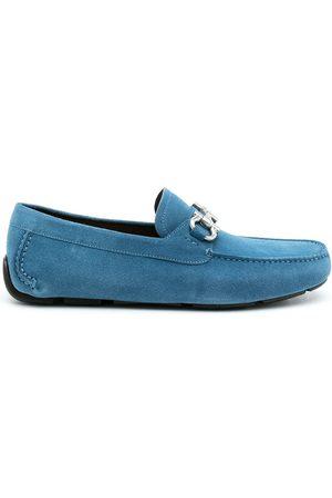 Salvatore Ferragamo Men Loafers - Gancini suede driving loafers