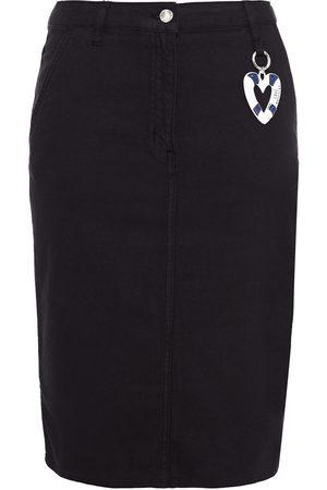 LOVE MOSCHINO Women Pencil Skirts - Woman Embellished Denim Pencil Skirt Size 38