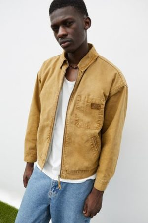 BDG Men Jackets - Caramel Sherpa-Lined Worker Jacket