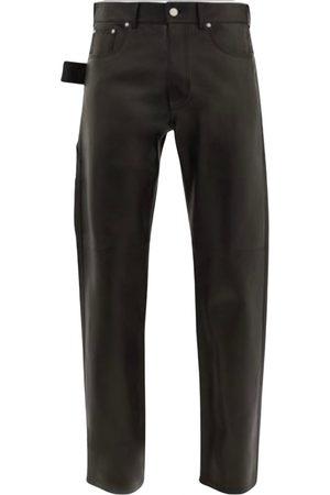 Bottega Veneta Men Leather Pants - Leather trousers