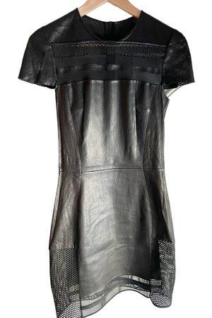 JITROIS Leather mid-length dress