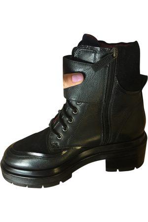 BRONX Leather biker boots