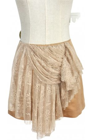 ANNE VALERIE HASH Silk mini skirt