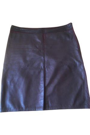 Jil Sander Leather mini skirt