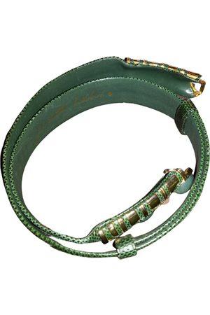 Judith Leiber Python belt