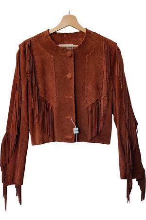 Moschino Leather short vest