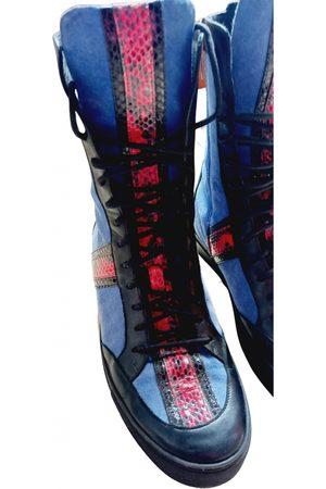 Elisabetta Franchi Leather biker boots