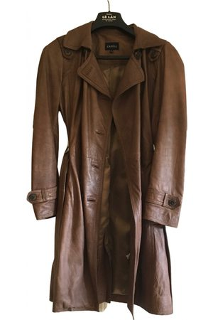 Caroll Leather trench coat
