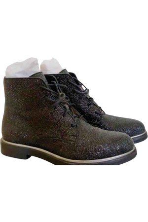 Jimmy Choo Glitter lace up boots