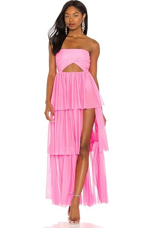 For Love & Lemons X REVOLVE Strapless Tiered Ruffle Gown in .