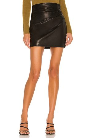 The Sei Leather Gathered Skirt in .