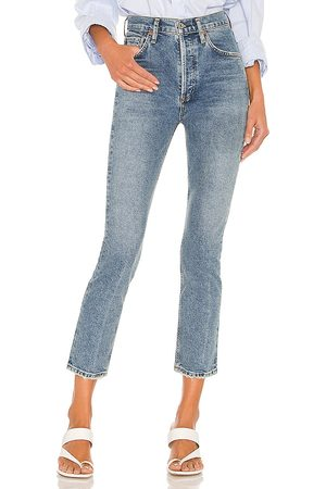 Citizens of Humanity Jolene High Rise Vintage Slim in Blue.