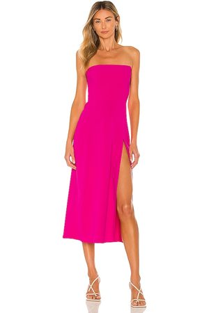 Amanda Uprichard Women Midi Dresses - Mandy Midi Dress in Fuchsia.
