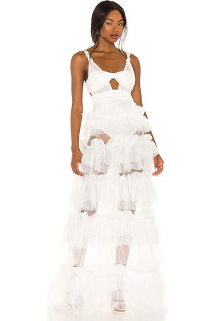 For Love & Lemons X REVOLVE Tiered Gown in Ivory.