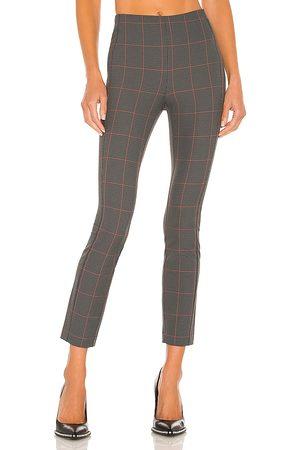 RAG&BONE Women Skinny Pants - Simone Check Pant in Grey.