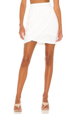 Amanda Uprichard Voila Skirt in Ivory.