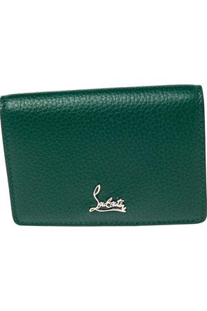 Christian Louboutin Leather Loubeka Business Card Case