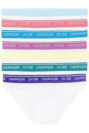 Calvin Klein Days Of The Week 7 Pack Bikini in White.