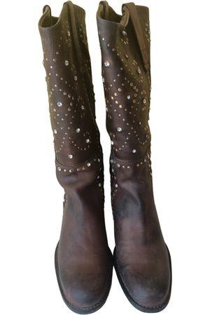 EL VAQUERO Leather cowboy boots