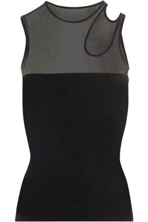 Mugler Asymmetric Knit Top Black
