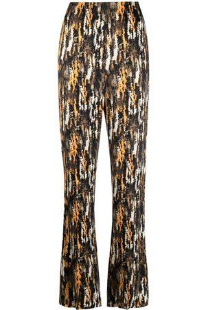 Nanushka Abstract-Print Straight-Leg Trousers